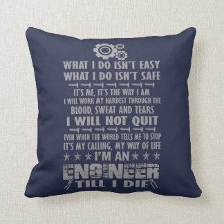 Almofada Eu sou um engenheiro até mim morro