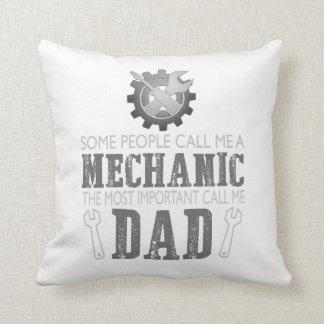 Almofada Eu sou um mecânico e eu sou um pai