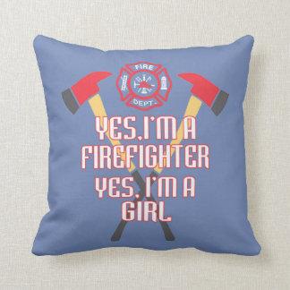 Almofada Eu sou um sapador-bombeiro e uma menina