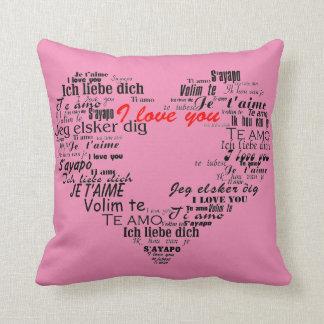 Almofada Eu te amo no travesseiro decorativo diferente das