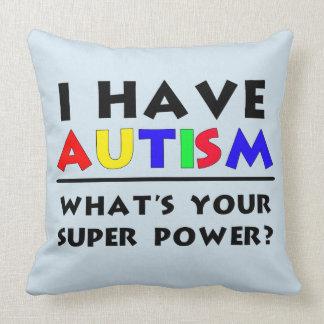 Almofada Eu tenho o poder super do autismo