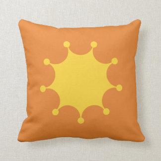 Almofada Explosão brilhante do amarelo
