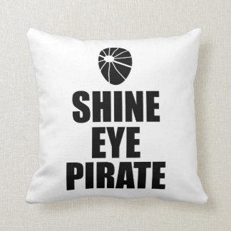 Almofada Eyepatch do pirata do olho do brilho. Texto escuro