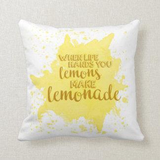 Almofada Faça a limonada descansar