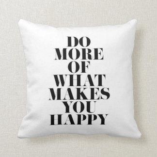 Almofada Faça-lhe citações inspiradores mínimas felizes