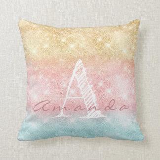 Almofada Faísca azul cor-de-rosa conhecida de Ombre Tiffany