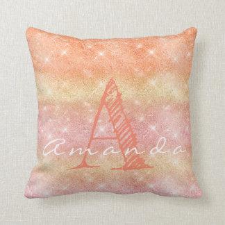 Almofada Faísca Pastel alaranjada cor-de-rosa conhecida de