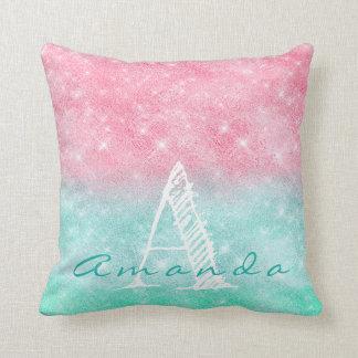 Almofada Faísca Pastel do oceano cor-de-rosa conhecido de