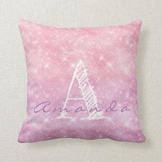 Almofada Faísca Pastel roxa cor-de-rosa conhecida de Ombre