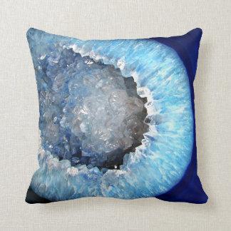 Almofada Falln Geode de cristal azul