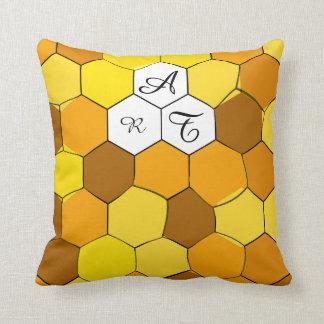 Almofada Favo de mel abstrato travesseiro personalizado