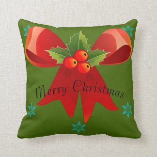 Almofada Feliz Natal/boas festas travesseiro (arco grande)