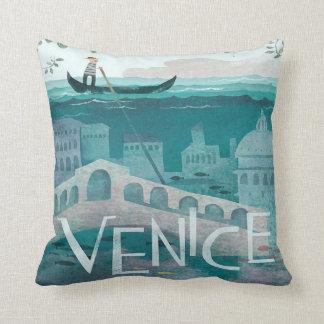 Almofada férias do viagem da gôndola de Veneza Italia