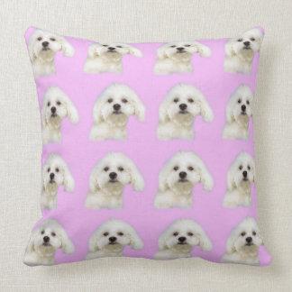 Almofada Filhote de cachorro maltês no rosa