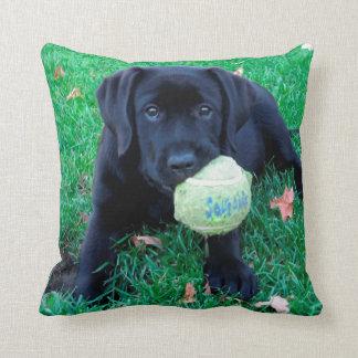 Almofada Filhote de cachorro preto de Labrador - bola do