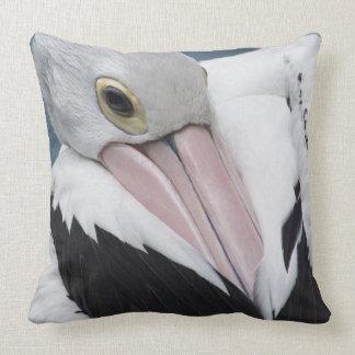 Almofada Fim australiano do pelicano acima