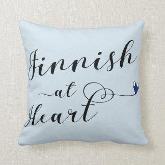 Almofada Finlandês no coxim do lance do coração, Finlandia