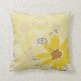 Almofada Flor abstrata amarela da margarida
