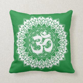Almofada Flor da mandala do travesseiro de OM da vida