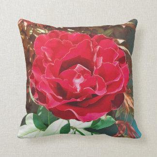 Almofada Flor da rosa vermelha