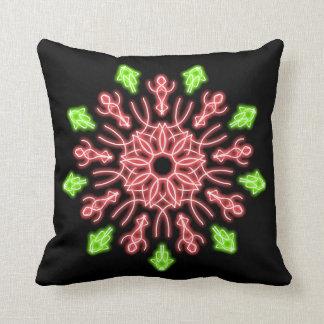 Almofada Flor de néon vermelha e verde