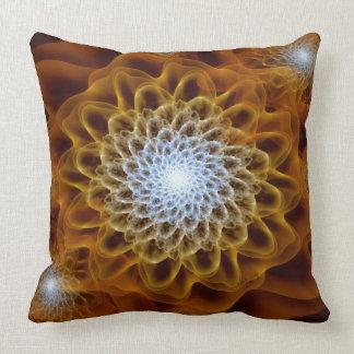 Almofada Floral ambarino de Brown do ouro