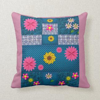 Almofada Flores decorativas dos padrões do rosa empoeirado