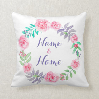 Almofada Flores florais dos rosas conhecidos do presente do