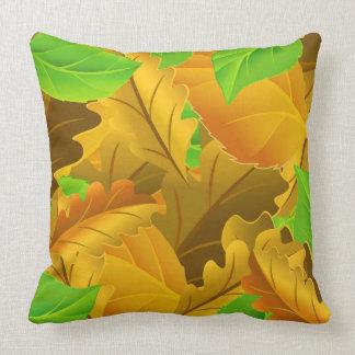 Almofada Folhas coloridas bonitas da coleção do vetor