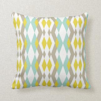 Almofada Formas geométricas modernas no amarelo azul pastel