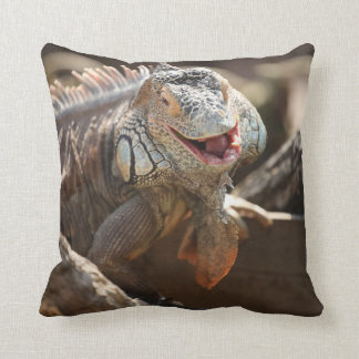Almofada Foto de riso da iguana