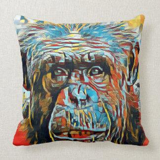 Almofada Fotografia de Digitas do pop art do chimpanzé do