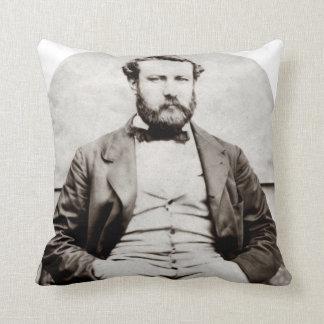 Almofada Fotografia do retrato de Jules Verne do vintage