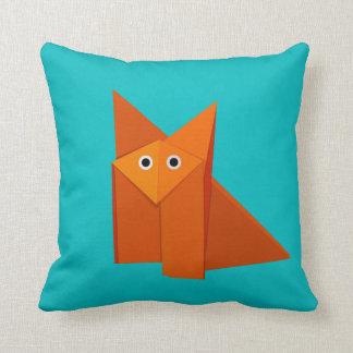 Almofada Fox bonito brilhante de Origami