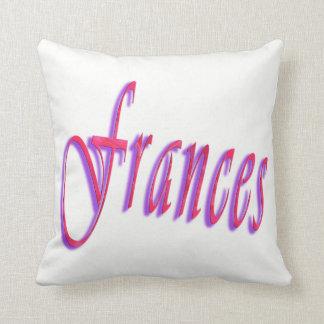 Almofada Frances, logotipo conhecido cor-de-rosa, coxim