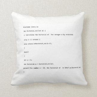 Almofada Função recursivo no fundo branco