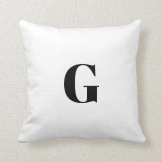 Almofada G uma letra simples