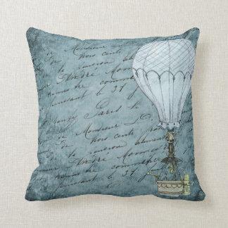 Almofada Gaiola de pássaro azul do balão de ar quente do