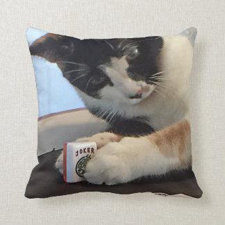 Almofada Gato do Mah Jongg e travesseiro dos cães