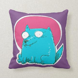 Almofada gato doce que senta-se nos desenhos animados