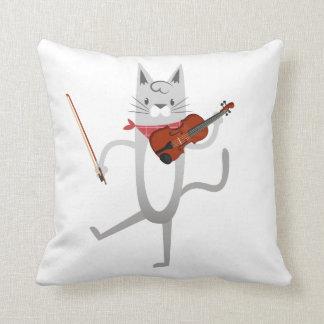 Almofada Gato engraçado do violino