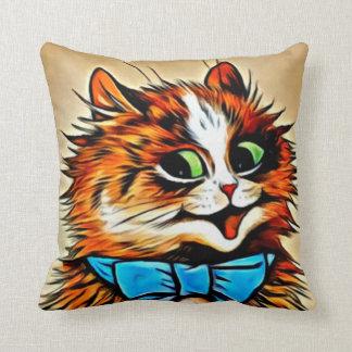 Almofada Gato malhado Gato-Feliz de LOUIS WAIN com arco