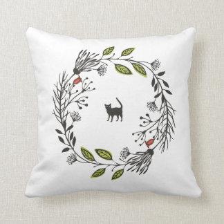 Almofada Gato preto em um travesseiro decorativo da