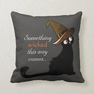 Almofada Gato preto pernicioso - travesseiro