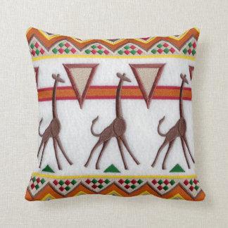 Almofada Girafas no travesseiro de África