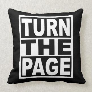 Almofada Gire a página