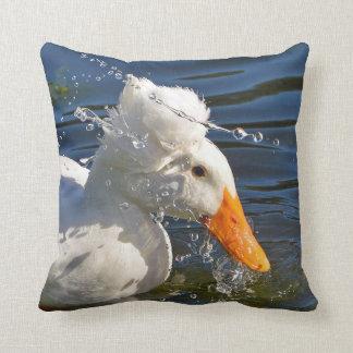 Almofada Gotas brancas do pato e de água