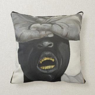 Almofada Grade do ouro de Hip Hop, travesseiro decorativo