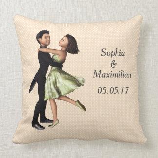Almofada Gráfico customizável do casal da dança