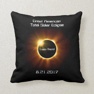 Almofada Grande eclipse solar total americano - travesseiro